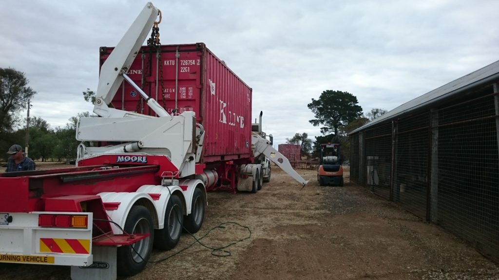 Container Arrives